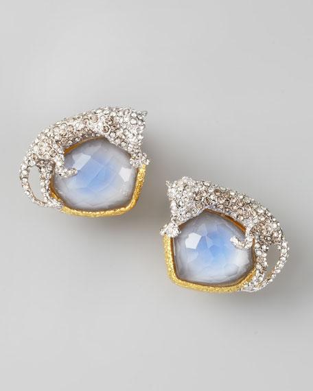 Siyabona Panther Clip Earrings, Quartz