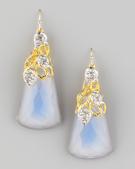 Siyabona Petal-Cap Painted Quartz Earrings