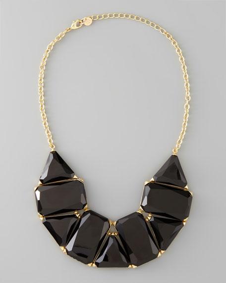 VivaGlam Rock Necklace, Black