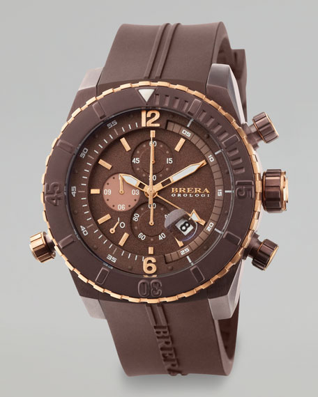 Sottomarino Diver Watch, Brown