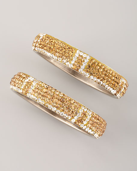 Pave Bangles, Set of Two