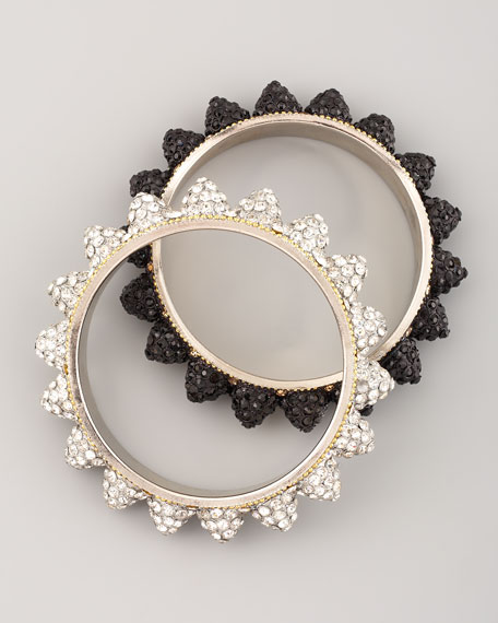 Pave Cone Bangles, Set of Two