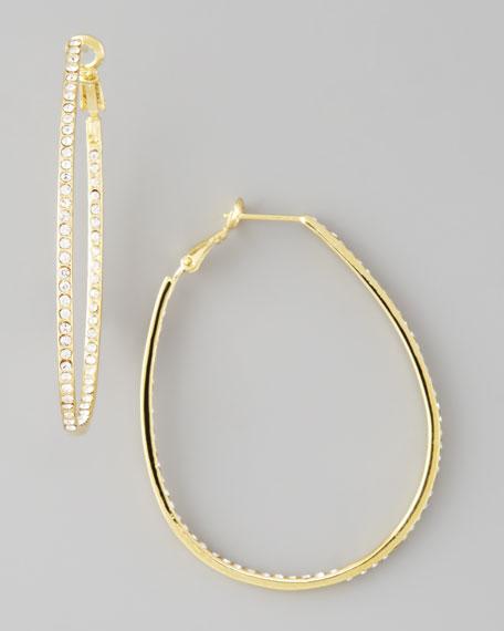 Golden Crystal Hoop Earrings