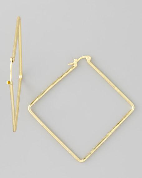 Diamond-Shaped Hoop Earrings