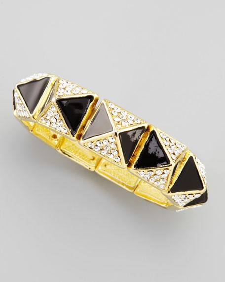 Pave Pyramid Bracelet