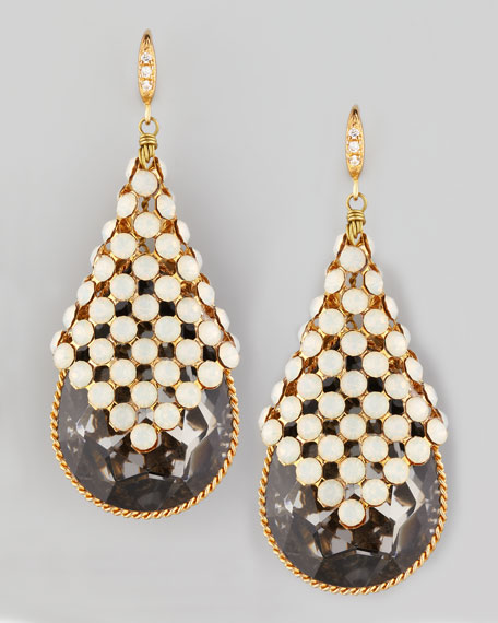 Smoky Teardrop Earrings