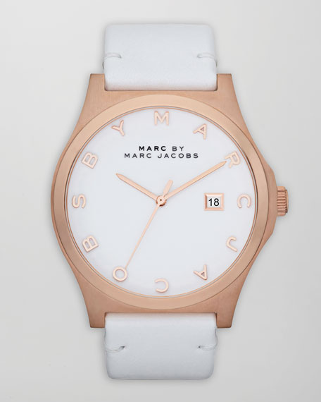 Henry Rose Golden Watch, White