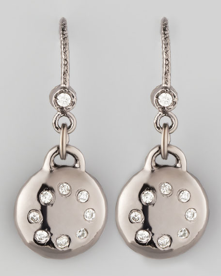 Noir Pave Diamond Drop Earrings
