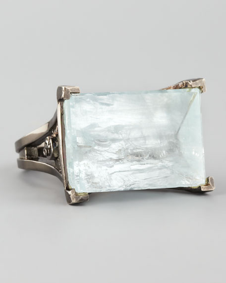 Noir Aquamarine Ring