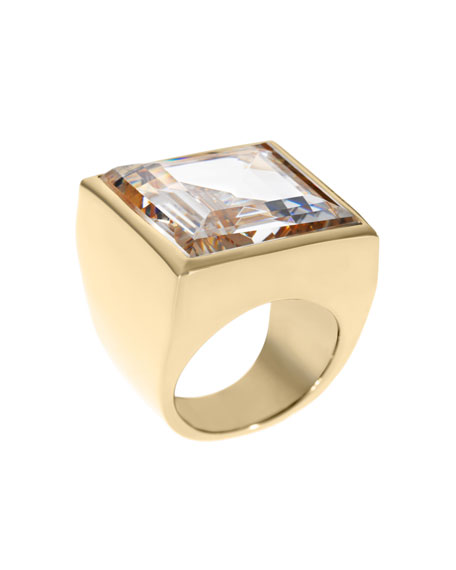 Golden Crystal Ring