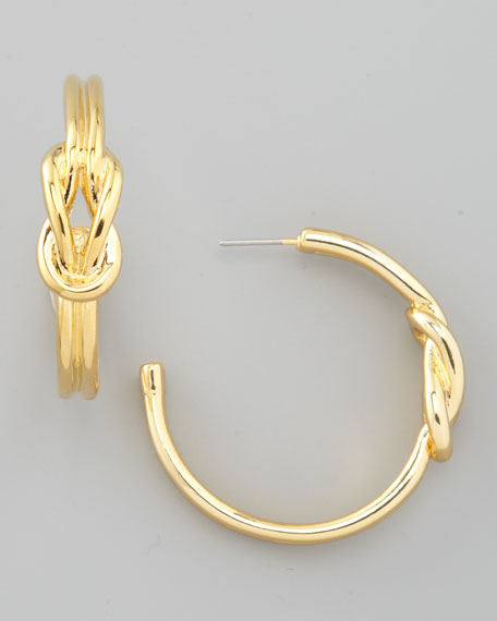 Hercules Knot Hoop Earrings