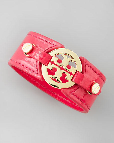 Logo Double-Snap Cuff, Pink