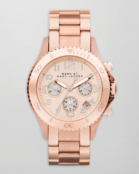 Rock Chronograph Watch, Rose Golden