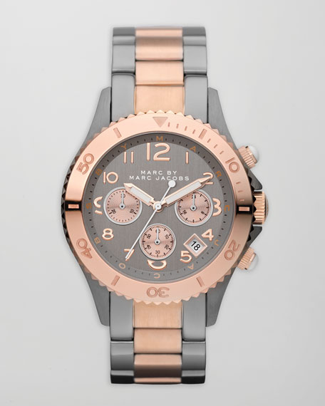 Rock Chronograph Watch, Two-Tone