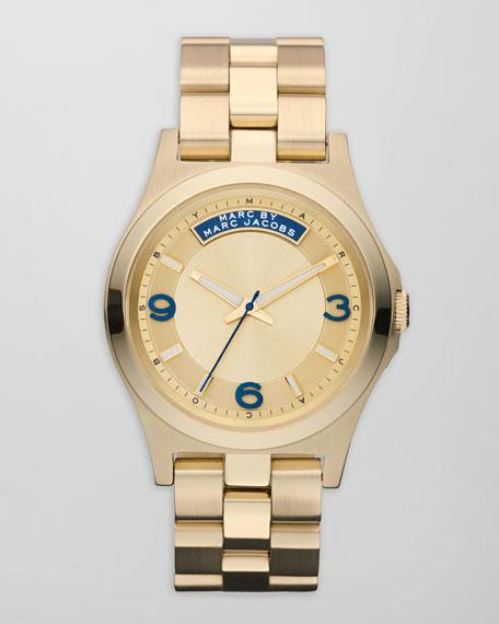 Baby Dave Yellow Golden Watch, Navy