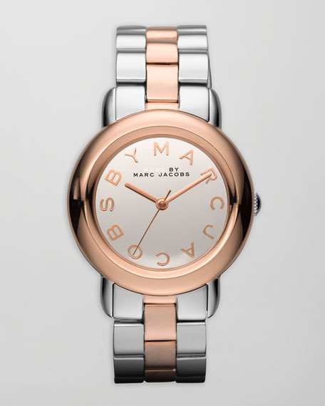 Marci 3H Watch, Stainless Steel/Rose Golden