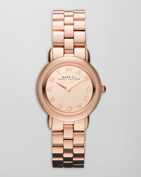 Marci 3H Analog Watch, Rose Golden