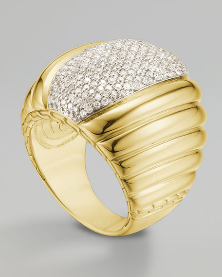 Bedeg Diamond-Center Ring, Gold