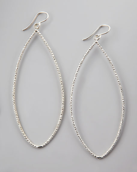 Sparkle Marquise Earrings, Silver
