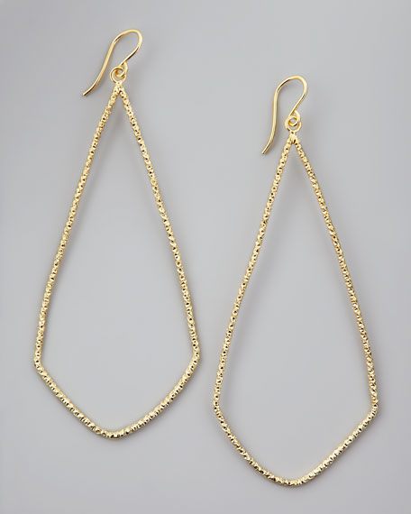 Sparkle Swing Earrings, Gold