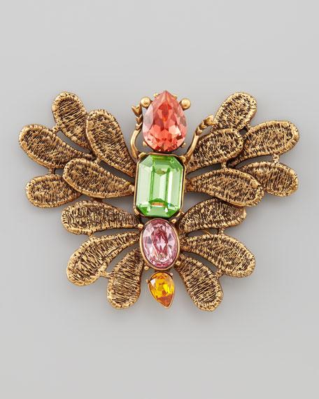 Cast Lace Butterfly Brooch