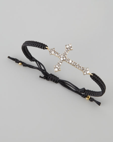 Pave Gothic Cross Bracelet