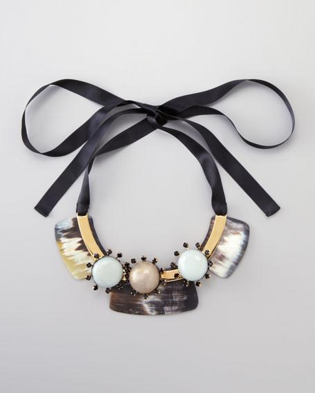 Three-Stone Bib Necklace