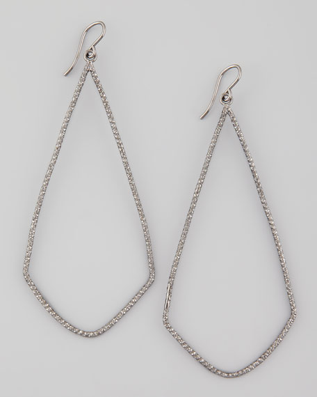 Sparkle Swing Earrings, Charcoal