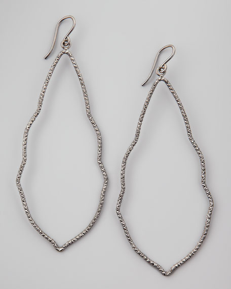 Sparkle Moroccan Earrings, Charcoal