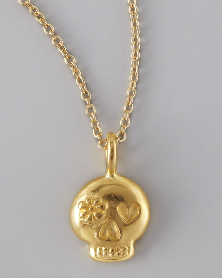 Gold Fearless Skull Necklace
