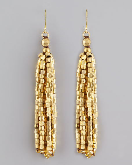 Faceted Fringe Earrings