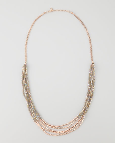 Rose Golden Beaded Necklace