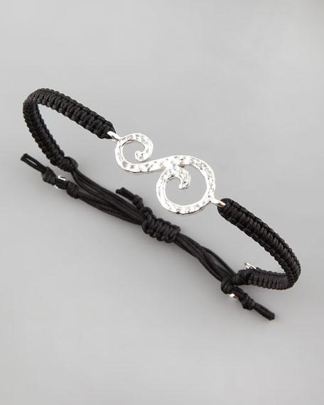 Hammered Initial Bracelet, S