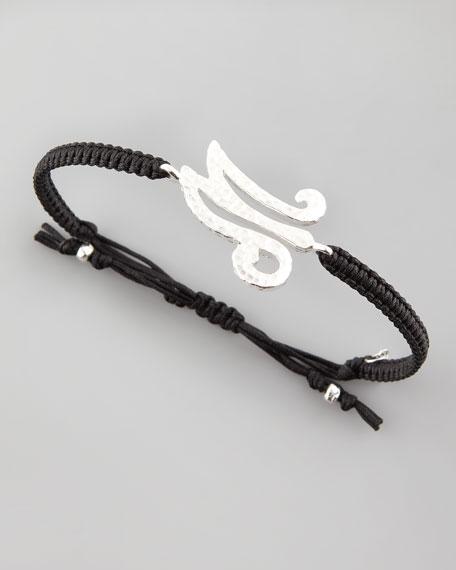 Hammered Initial Bracelet, M