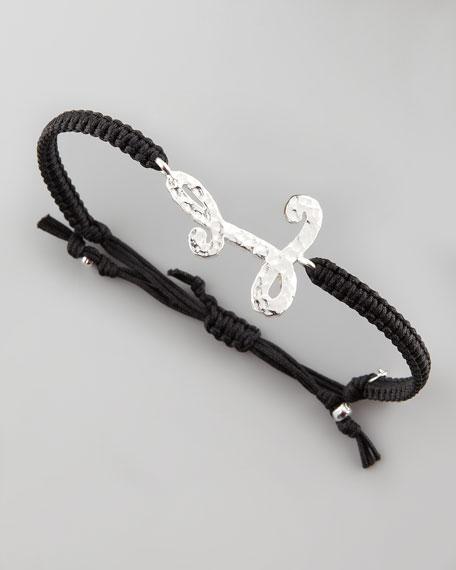 Hammered Initial Bracelet, L
