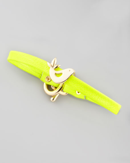 Love Bird Leather Bracelet