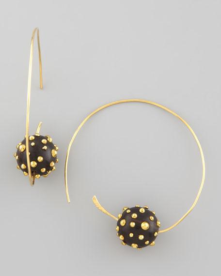 On a Roll Studded-Bead Earrings