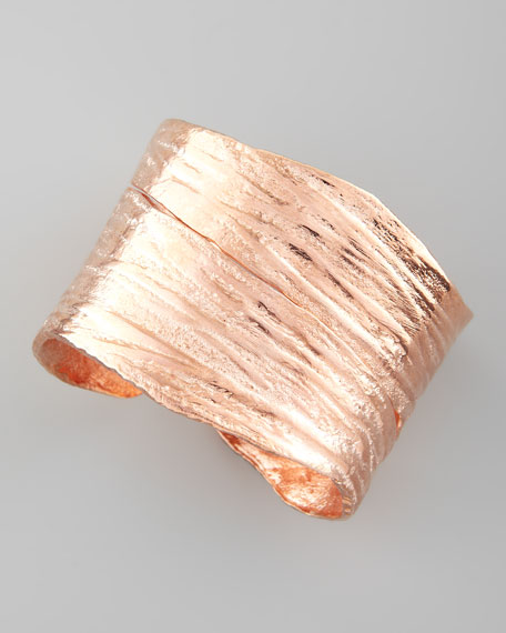 Brushed Rose Golden Cuff