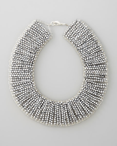 Metallic Beaded Collar Necklace