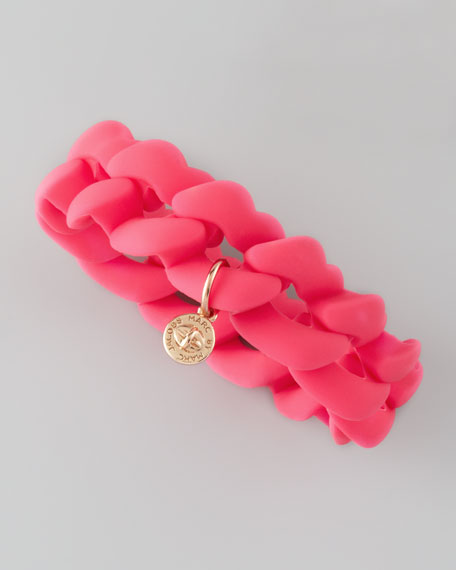 Rubber Turnlock Bracelet, Knockout Pink