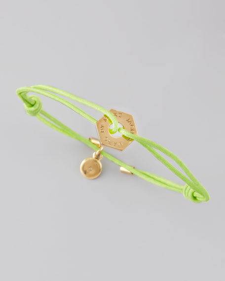 Bolt Friendship Bracelet, Toucan Green