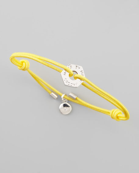 Bolt Friendship Bracelet, Safety Yellow