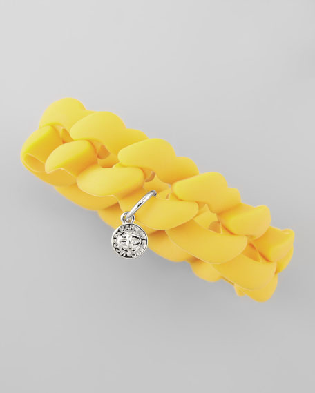 Rubber Turnlock Bracelet, Safety Yellow