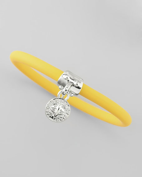 Chunky Rubber Bangle, Safety Yellow