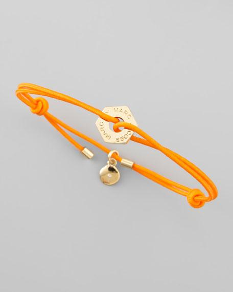Bolt Friendship Bracelet, Fluoro Orange
