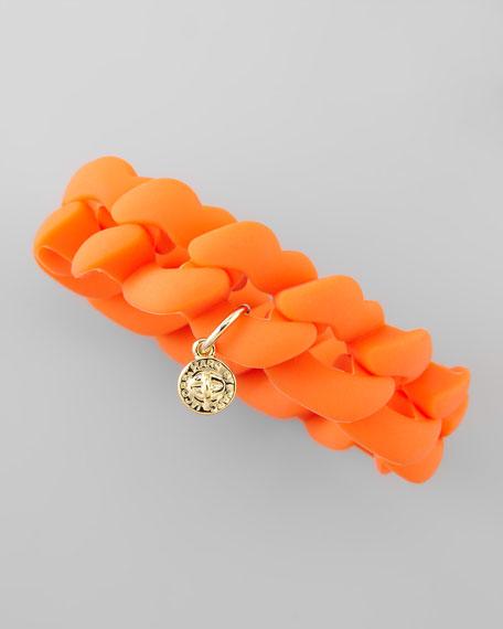 Chunky Rubber Bangle, Fluoro Orange