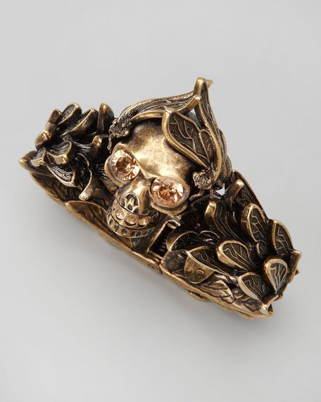 Golden Winged Skull Bracelet