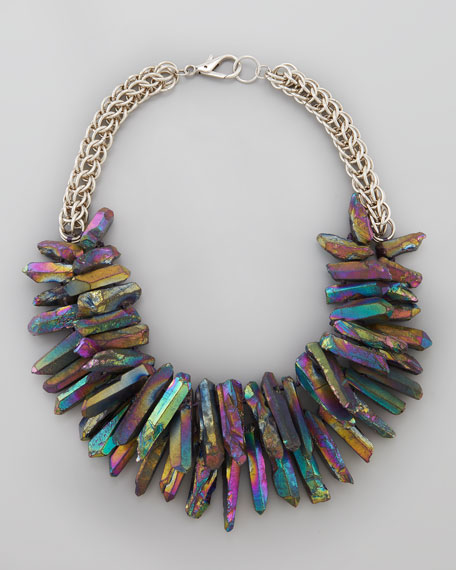 Quartz Point Collar Necklace