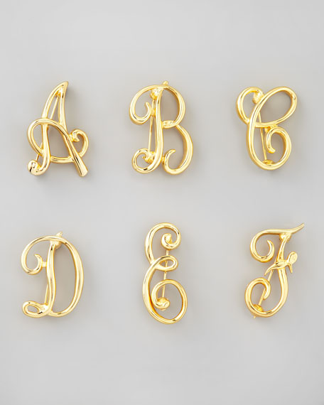 Golden Initial Pin