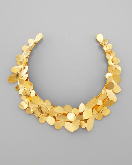 Gold Petal Collar Necklace